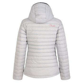Women's Drawdown Down Fill Insulated Jacket Silver Flash Luminous Pink