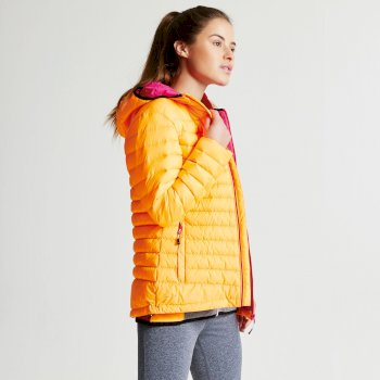 Women's Drawdown Down Fill Insulated Jacket Orange Burst