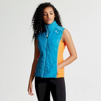 Women's Decorous Wool Fill Gilet Sea Breeze Blue Bahama Blue