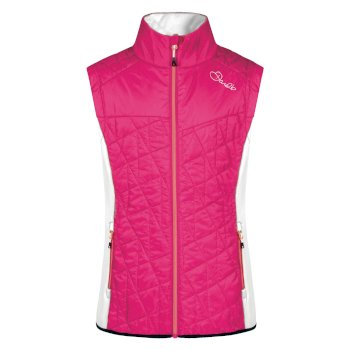 Women's Decorous Wool Fill Gilet Pink Fusion White