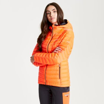 Womens' Elative Down Fill Insulated Jacket Fiery Coral