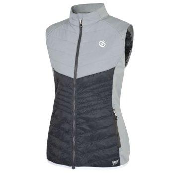 Women's Nominate Wool Hybrid Baffled Vest Ebony Argent Grey