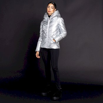 Dare 2b X Julien Macdonald - Women's Magisterial Insulated Ski Jacket Platinum