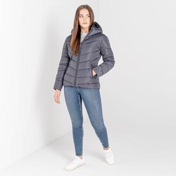Swarovski Embellished - Women's Reputable Insulated Jacket Ebony Grey