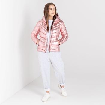 Swarovski Embellished - Women's Reputable Insulated Jacket Powder Pink Metallic