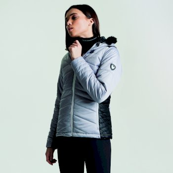 Women's Comprise Luxe Ski Jacket Silver Flash Black