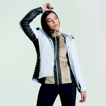 Women's Comprise Luxe Ski Jacket White Black
