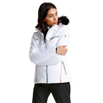 7c3e076929 Women s Ornate Luxe Ski Jacket White