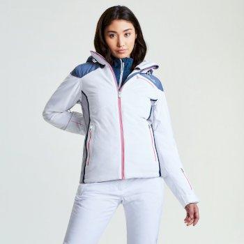 Women's Impromptu Ski Jacket White Mercury Grey Silver Flash