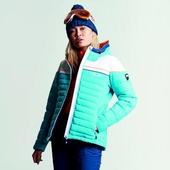 Women's Novela Ski Jacket Aqua White