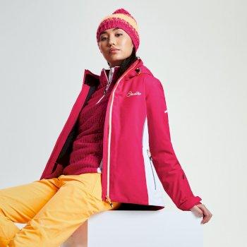 Women's Contrive Ski Jacket Pink Fusion