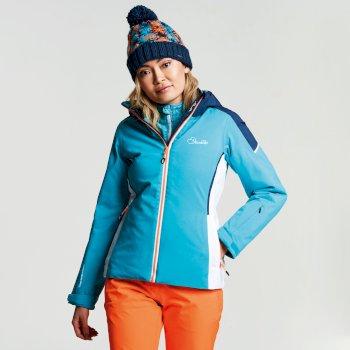 Women's Contrive Ski Jacket Aqua Blue  Wing