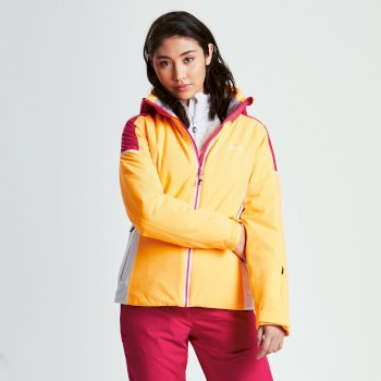 Veste Imperméable Chaude CONTRIVE Orange Burst Pink Fusion