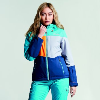 Veste imperméable chaude Indestruct Jacket Aqua/SlvFlsh