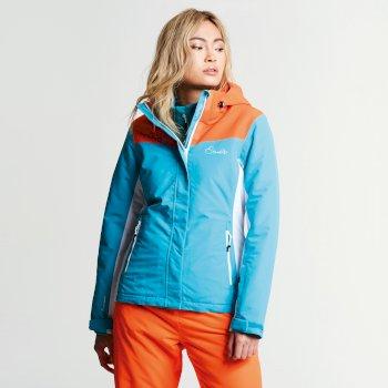 Veste imperméable chaude Prosperity Jacket Aqua/VibrOrn