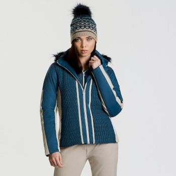 Women's Statement Luxe Ski Jacket Blue Wing Macchiato