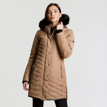 Women's Svelte Luxe Ski Jacket Mid Brown