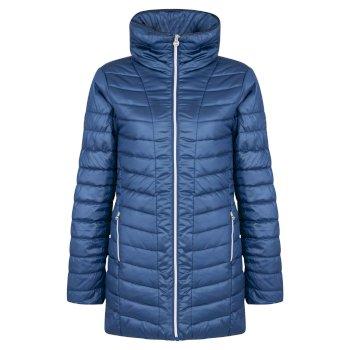 Women's Longline Luxe Ski Jacket Blue Wing