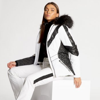 Dare 2B x Julien Macdonald - Women's Emperor Ski Jacket White Black