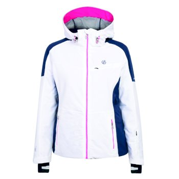 Women's Inventor Ski Jacket White Blue Wing