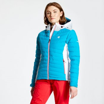 Women's Simpatico Quilted Ski Jacket Fresh Water Blue