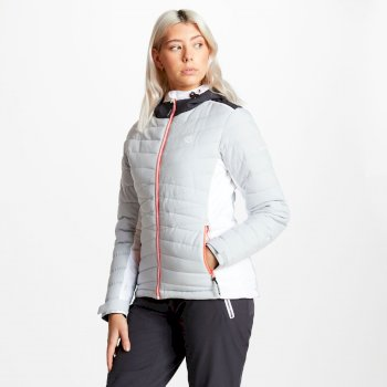 Women's Simpatico Quilted Ski Jacket Argent Grey