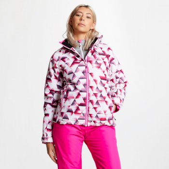 Women's Encompass Printed Ski Jacket Cyber Pink