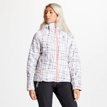 Women's Encompass Printed Ski Jacket White