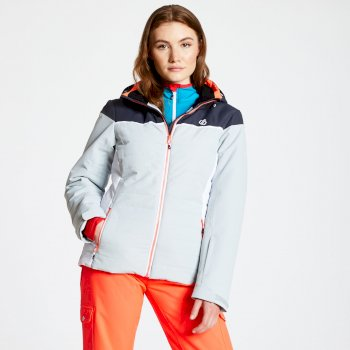 Women's Sightly Ski Jacket Argent Grey Ebony