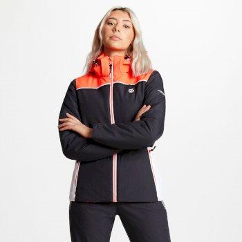 Women's Validate Ski Jacket Ebony Fiery Coral