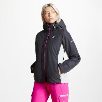 Women's Urgency Ski Jacket Ebony Argent Grey
