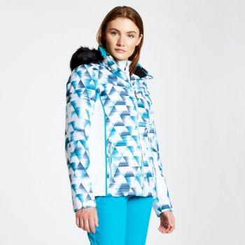 Women's Copious Printed Ski Jacket Blue Wing