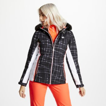 Women's Copious Printed Ski Jacket Black Energy