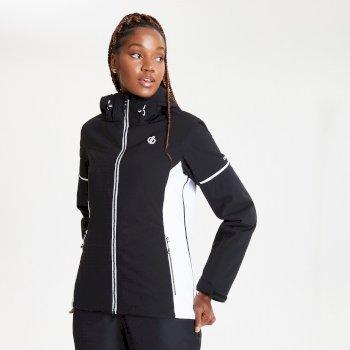 Veste de ski à capuche Femme imperméable et isolante ENCLAVE Noir