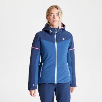Veste de ski à capuche Femme imperméable et isolante ENCLAVE Bleu