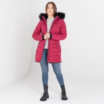 Swarovski Embellished - Women's Striking II Waterproof Ski Jacket Beetroot