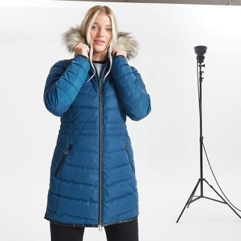 Swarovski Embellished - Women's Striking II Waterproof Ski Jacket Dark Denim