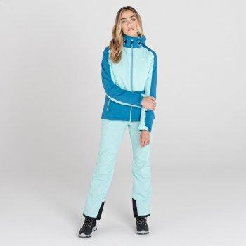 Women's Enclave II Recycled Waterproof Ski Jacket Aruba Blue Dark Methyl