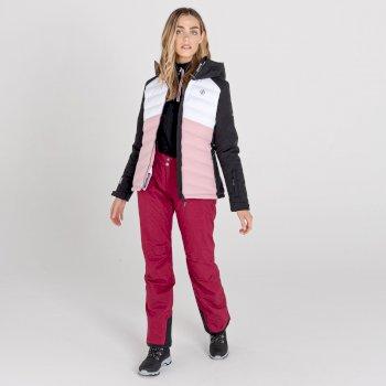Women's Coded Waterproof Ski Jacket Powder Pink Black