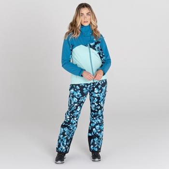 Women's Determined Waterproof Ski Jacket Dark Methyl Blossom Print