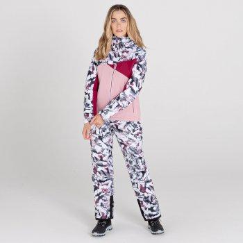 Women's Determined Waterproof Ski Jacket Powder Pink Beetroot