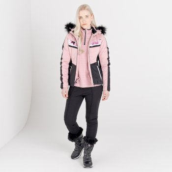 Swarovski Embellished - Women's Dynamite Waterproof Ski Jacket Powder Pink