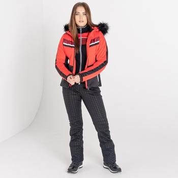 Swarovski Embellished - Women's Dynamite Waterproof Ski Jacket Lollipop Red