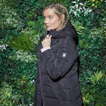 The Laura Whitmore Edit - Reputable Long Line Waterproof Padded Jacket Black
