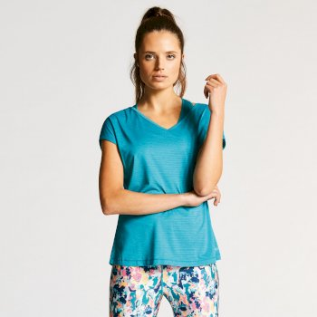Women's Serrate T-Shirt Sea Blue
