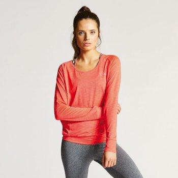 T-Shirt Overt L/Slv Top Neon Pink