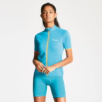 Women's Cachet Cycle Jersey Sea Breeze Blue