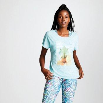 Women's Summer Days Graphic T-Shirt Aruba Blue
