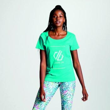 Women's Glow Up Printed T-Shirt Caribbean Green