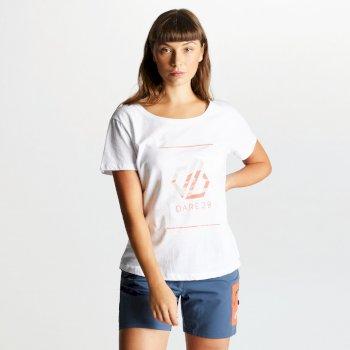 Women's Glow Up Printed T-Shirt White